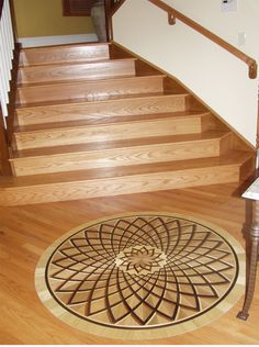 Classic Rosette Medallion. Design by: Rennaissance Floor Inlays