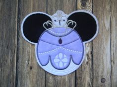 Sofia the First Mouse Head Princess Applique by TheEnchantedHollow