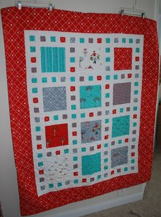 Sisters, Sisters: Red and Aqua Quilt