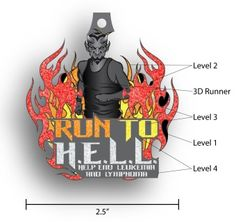 inspired by a radio interview promoting our virtual runs where the DJ called me the runner from HELL to Help End Leukemia and Lymphoma, we de...