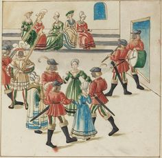 Three Couples in a Circle Dance, c. 1515
