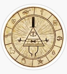 Gravity Falls stickers featuring millions of original designs created by independent artists. Gravity Falls Bill Cipher, Gravity Falls Book, Libro Gravity Falls, Mystery, Fallen Book, Fall Gifts, Anime Stickers, Aesthetic Stickers, Sticker Design