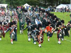 Massed Pipe Bands, Dufftown Higland Games