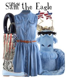 """""""Sam the Eagle"""" by tallybow ❤ liked on Polyvore featuring Kenneth Jay Lane, King Baby Studio and ANNA BAIGUERA"""