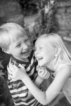 Cute kids photo, silly, joy, laughter, sister and brother, big sister, little brother, happy photos, Wilmington NC photographer.