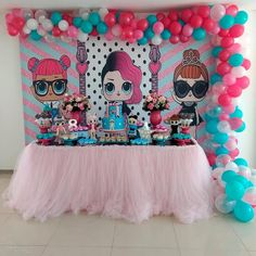 7th Birthday Party Ideas, Girl Birthday, Girls Party Decorations, Barn Parties, Doll Party, Lol Dolls, Partys, Party Time, Birthdays