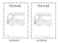 fire safety week emergent reader - Click image to find more Education Pinterest pins