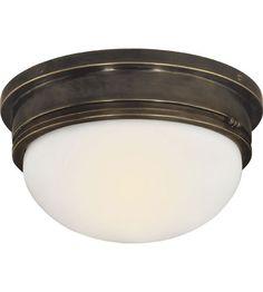 Visual Comfort E.F. Chapman Marine 2 Light Flush Mount in Bronze SL4002BZ-WG #visualcomfort #lightingnewyork #lighting