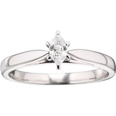 Always & Forever Platinaire 1/5 Carat Marquise Diamond Solitaire Ring
