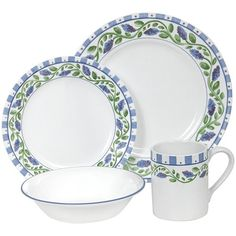 corelle dinnerware sets | Buy Corelle Impressions 16-Piece Dinnerware Set, Service for 4, French ...