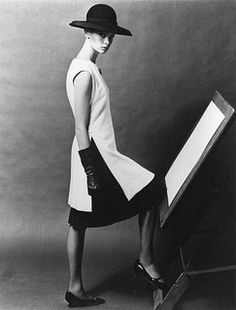 Jean Shrimpton wearing Mary Quant. Photo: John French, 1963.