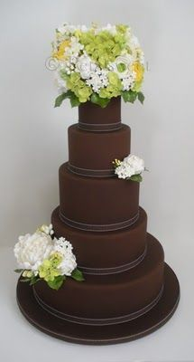 wowzas! Not a huge chocolate fan but this is classy wedding cake. Love the matte color