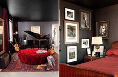 The cozy black decor.
