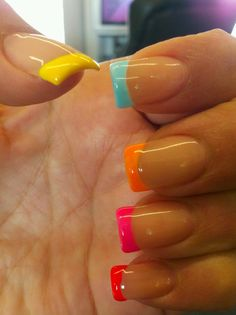 Neon French! Thanks Pinterest for the idea!