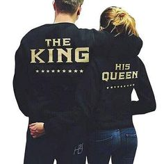 2016 Couple Hoodies Fashion Casual Long Sleeves King Queen Printed Men – Hespirides Gifts