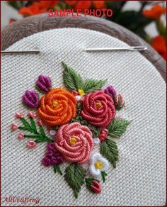 PURPLE ROSE Necklace Fashion for Women Hand Embroidered Pendant Floral Necklace Vintage Jewelry Personalized Necklace Handmade - Embroidery Jewelry Set Bridesmaid Gift Bridal Wedding Gift for hand embroidery stitches tutorial step by step free vintage mac Brazilian Embroidery Stitches, Learn Embroidery, Hand Embroidery Stitches, Silk Ribbon Embroidery, Hand Embroidery Designs, Embroidery Ideas, Embroidery Needles, Embroidery Supplies, Hand Stitching