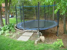 Interesting idea now that we finally got some trees cut (I hated writing that check)...may need to move the trampoline and build up to it.