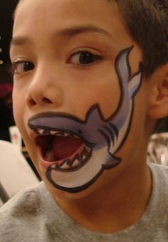 Face painting ideas... Shark mouth