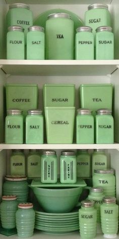 """Jadeite. - I love this, beautifully organized, but it reminds me of """"Sleeping with the Enemy""""."""