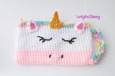 Crochet Unicorn Pattern Unicorn pencil case pattern crochet