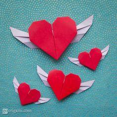 Flying Origami Heart | Go Origami!
