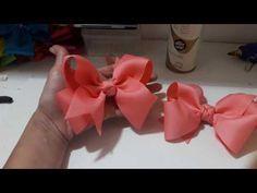 Passo a passo: Laço de fita de gorgurão decorado com pérolas/Diy - YouTube