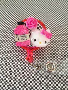 Retractable ID Badge Holder Hello Kitty Nurse by SPalos on Etsy, $10.00