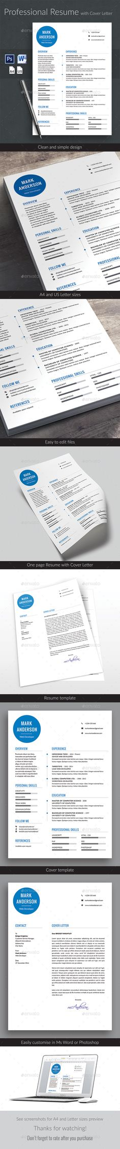 Resume Templates Cv template, Modern resume and Creative cv template - easy resumes