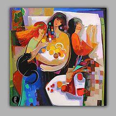 【今だけ 送料無料】現代アートなモダン キャンバスアート 絵 アートパネル 抽象画1枚で1セット 美しい 家族 猫 女性 食卓 フルーツ【納期】お取り寄せ2~3週間前後で発送予定