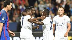 El Leicester celebrando el gol de Musa.
