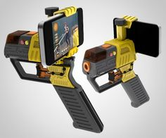 iPhone, iTouch, Android, all laser-tag-loving smartphone owners, get ready for the AppTag Laser Blaster! The app-and-apparatus duo that will turn your basement, your backyard, and your 3-mile stumble home from the bar at 3 a.m. into an intense competition of agility, precision, and tactical prowess. A shooter console attaches directly to players' phones for firing, and communicates activity via high frequency sounds imperceptible to mammalian ears (no Bluetooth or WiFi setup required).