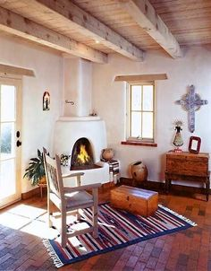 Pueblo Revival Houses In Santa Fe Stucco Walls Adobe And Modern