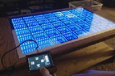 Beyond Infinity Table - the Interactive Coffee Table for the Modern Age : 15 Steps (with Pictures) - Instructables Infinity Mirror Table, Snake Game, Luxury Sofa, Living Room Sofa, Cool Stuff, Age, Modern, Pictures, Coffee Tables