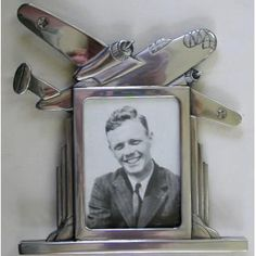 Silver Pewter AIRPLANE Art Deco Picture Frame | eBay