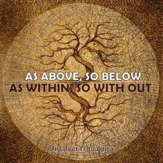 "Tree of Life-""As above, so below"" - ""wicca"" Wayne Dyer, Tattoo Karma, Mantra Tattoo, 12 Laws Of Karma, Tarot, Book Of Shadows, Occult, Magick, Decir No"