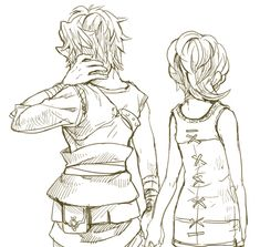 The Legend of Zelda Twilight Princess / Link and Ilia / Aww they're so cute together!!!