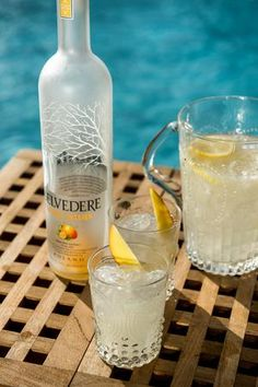 Poolside Passion Pitcher /   200 ml Belvedere Mango Passion Top fresh pressed lemonade  Combine ingredients with ice in a large pitcher and serve with slices of fresh mango.