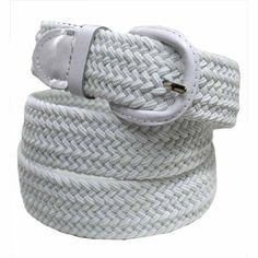 Introducing Luxury Divas White Braided Elastic Stretch Belt Size XXXLarge. Great Product and follow us to get more updates!