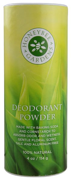 Honeybee Gardens Deodorant Powder -- 4 oz