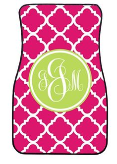 Monogram Everything! Personalized Car Floor Mats Set of 4 by Lovey Dovey Creations