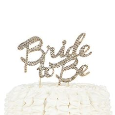 Bride To Be Cake Topper Bridal Party Wedding Shower Decoration Gold *** You can find more details by visiting the image link.-It is an affiliate link to Amazon. #WeddingCakeTopper