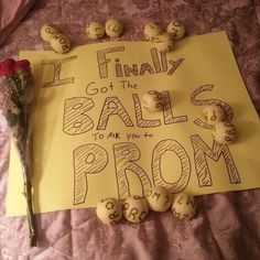 This is seriously the cutest way to ask a lacrosse girl to prom! We could never have too many balls.... Js...