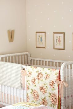 love the dotted wall...roost | marissa waddell interiors: violet's sweet-as-sugar nursery, wallpaper