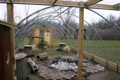 Cold Frame Aviary with Pond