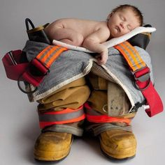 FUTURE FIREFIGHTER :) i will stare at him in the future ... Again I ask... why didn't I think of this??