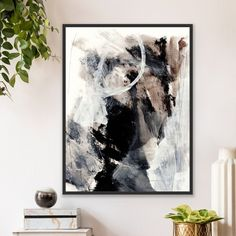 Early Bird Framed Canvas Prints, Canvas Frame, Minimalist Painting, Neutral Colour Palette, Meet The Artist, Floating Frame, Abstract Wall Art, Empty Wall, Early Bird