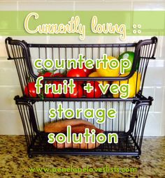 Kitchen Counter Organization Solution and tips for keeping your kitchen organized from Penelope Loves Lists