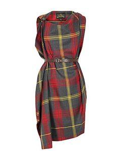 1073 201 Rectangle Red Tartan Dress