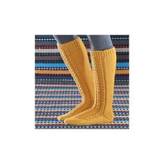 Ohje keltaiset polvisukat Leg Warmers, High Socks, Fashion, Leg Warmers Outfit, Moda, Thigh High Socks, Fashion Styles, Stockings, Fashion Illustrations
