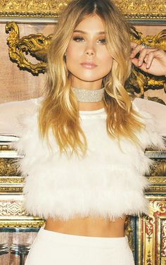 White Mesh feather Longsleeve TopWe've died and gone to heaven- this top is seriously our new fav...
